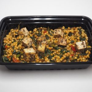 Israeli Cous Cous with Indian Seasoned Tofu