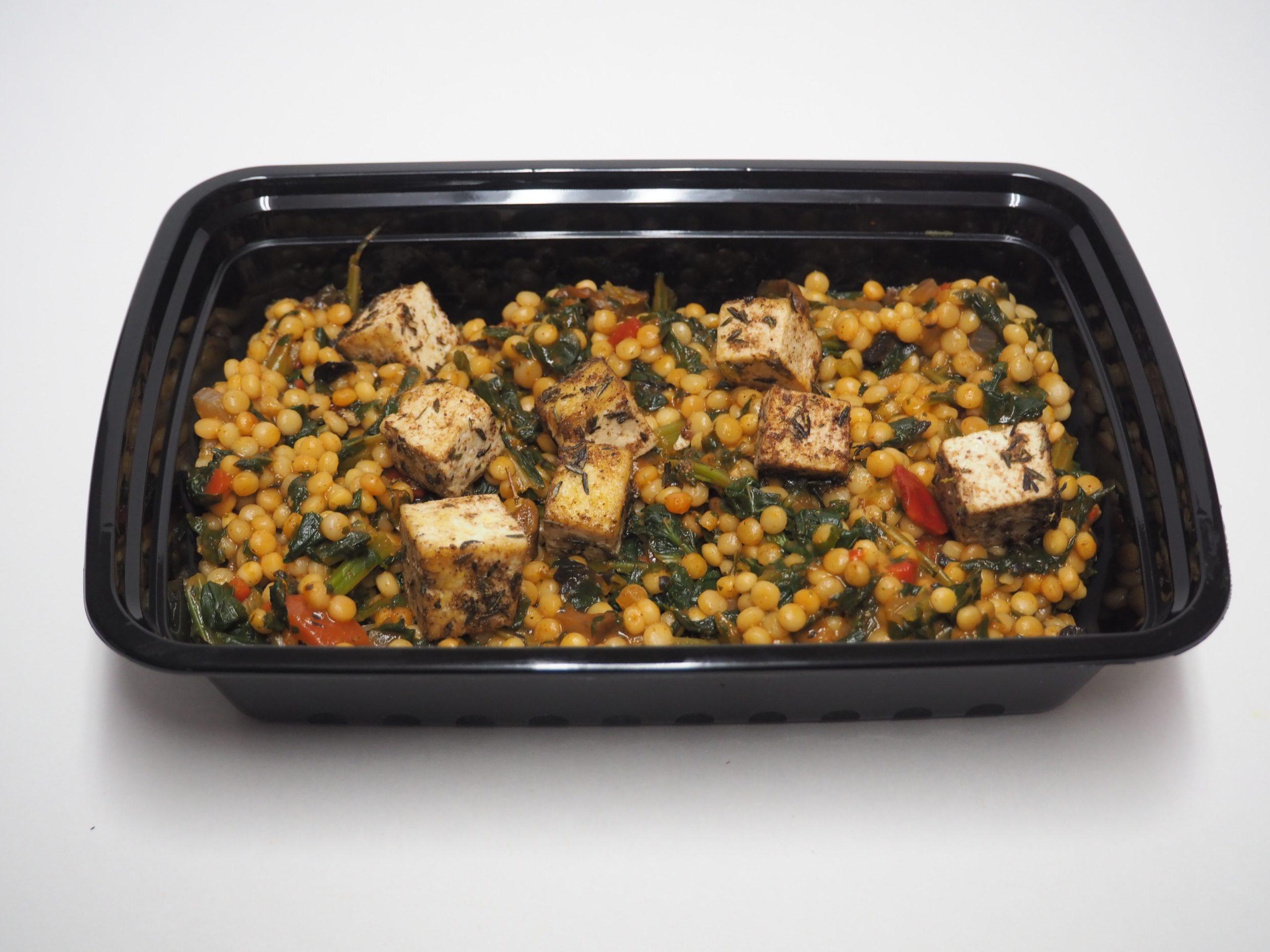 Israeli Cous Cous with Indian Seasoned Tofu